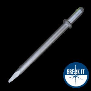breaker steel 25 x 75mm round shank
